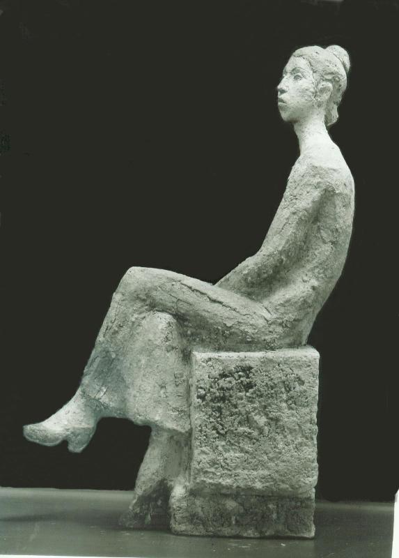 скульптурный портрет Абат Мухобатовой, шамот, профиль