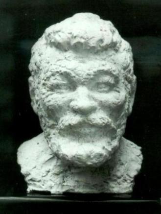 скульптурный портрет Николая Чекмарева, бюст, анфас