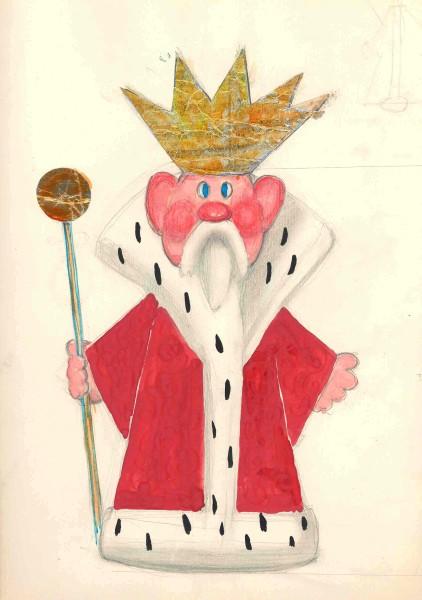 Эскиз куклы царя