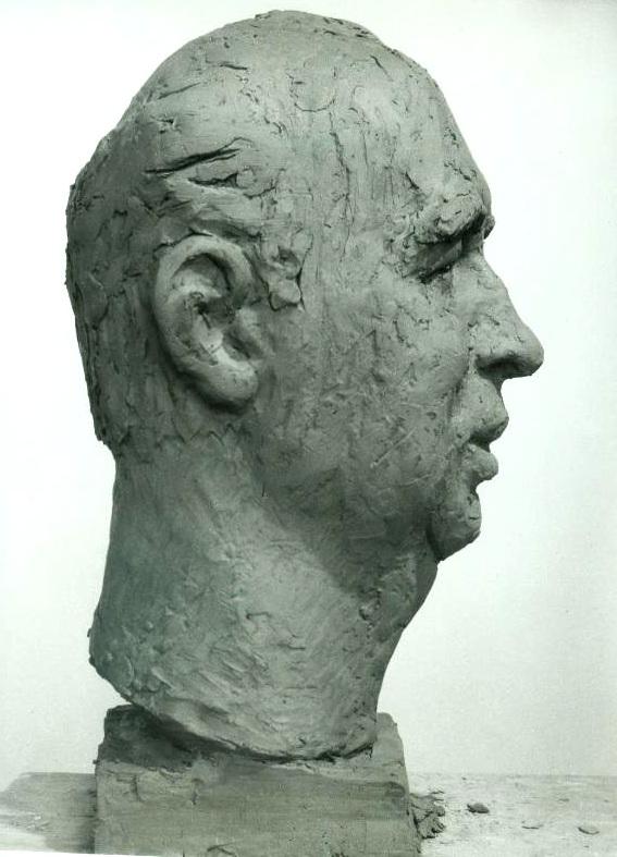 скульптурный портрет Валерия Федорова, профиль