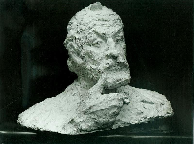 скульптурный портрет Павла Горяинова