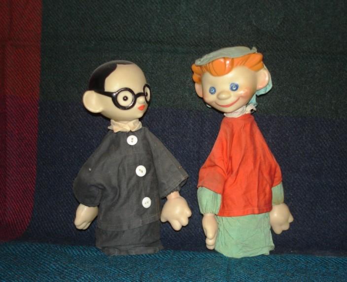 Перчаточные куклы Незнайка и Знайка