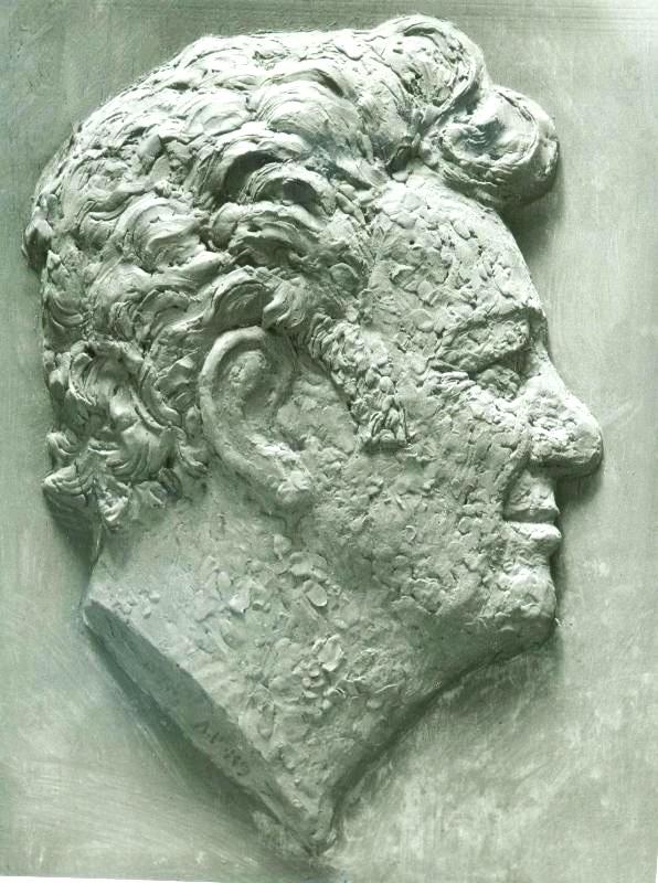 Скульптурный портрет Олави, барельеф