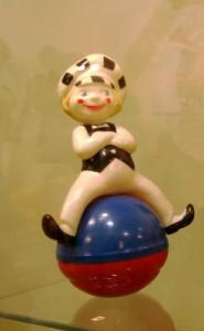 Clown sitting on a ball