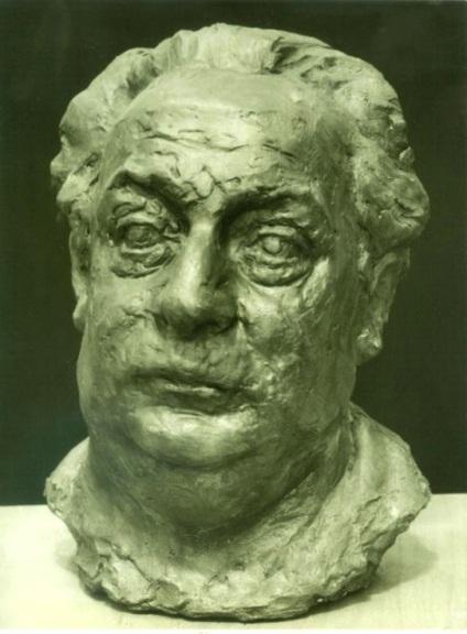 скульптурный портрет Давида Робинсона, анфас
