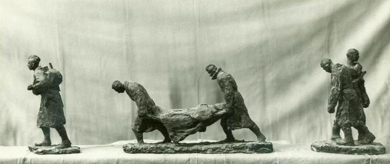 """многофигурная скульптурная композиция """"Солдаты"""""""