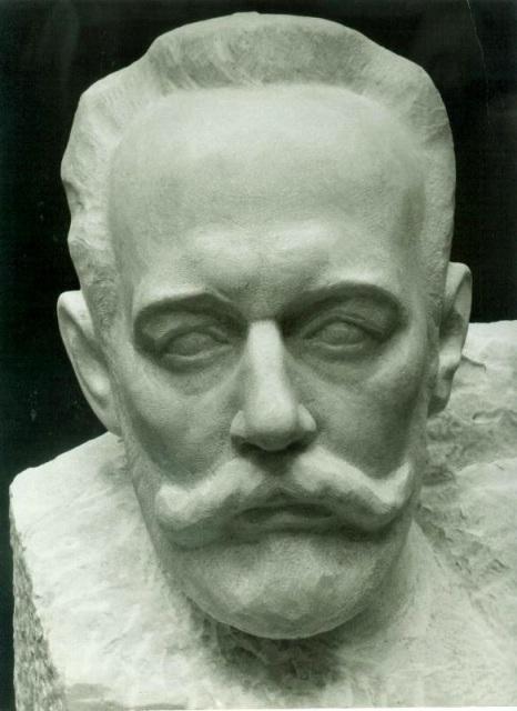 Бюст Чайковского, мрамор