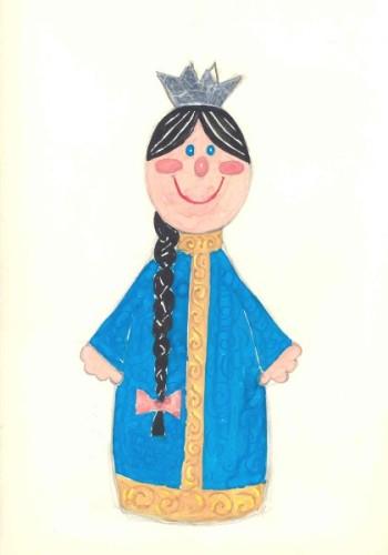 эскиз куклы царевна