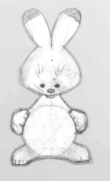 Рисунок пузатого зайца